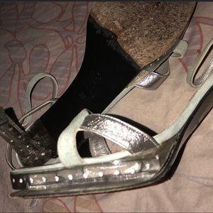Blumarine shoe sparkle crystal heels  size 39